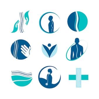 Kolekcja logo kreatywnej fizjoterapii