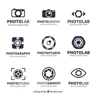 Kolekcja logo kreatywnych aparatów fotograficznych
