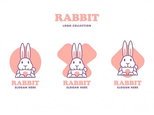Kolekcja logo królika