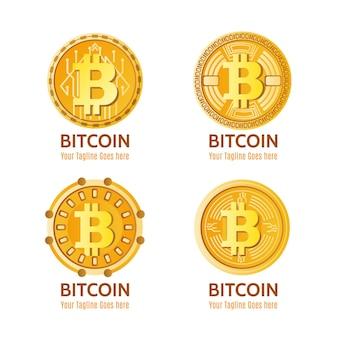Kolekcja logo kryptograficznego gradientu