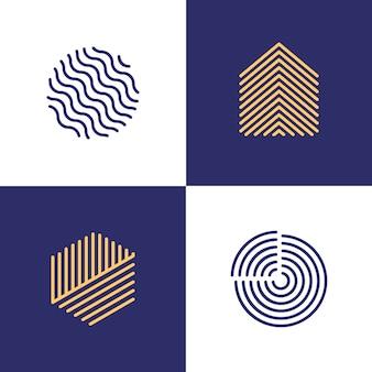 Kolekcja logo liniowe streszczenie styl