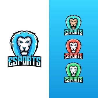 Kolekcja logo lion esport