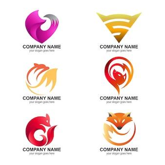 Kolekcja Logo Lisa Premium Wektorów