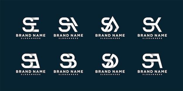 Kolekcja logo listu z nowoczesną koncepcją