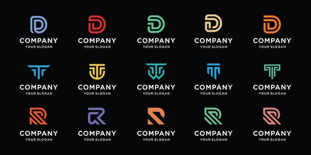 Kolekcja logo listu