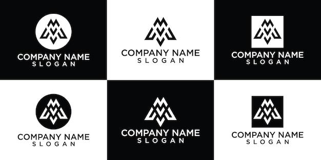 Kolekcja logo litera m za darmo