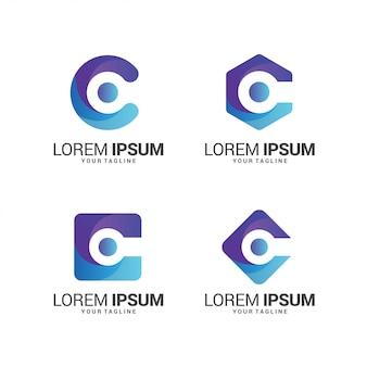 Kolekcja logo litery c.