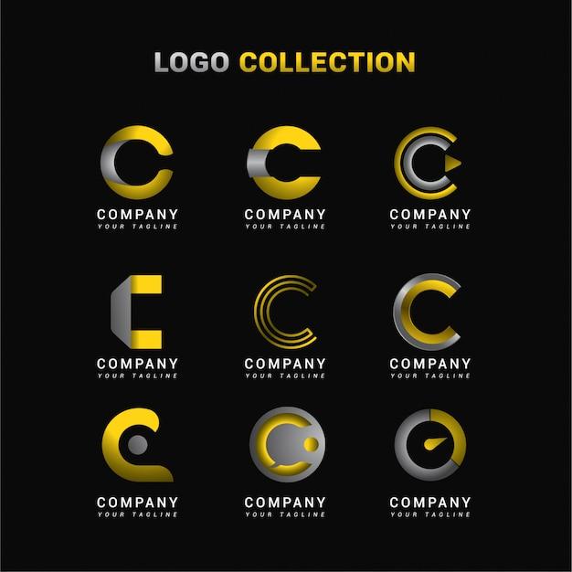 Kolekcja logo litery c