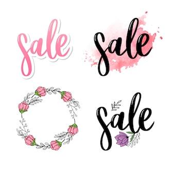 Kolekcja logo litery sprzedaż