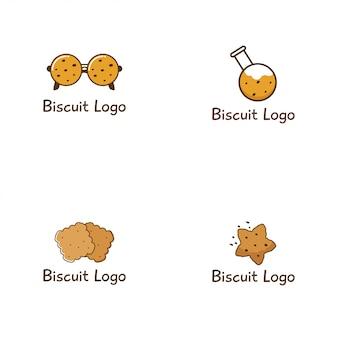 Kolekcja logo logo biscuit