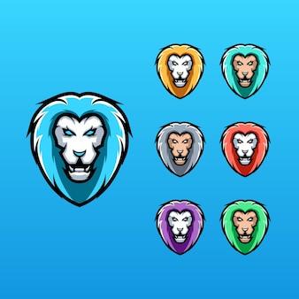 Kolekcja logo lwa