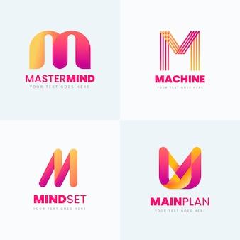 Kolekcja logo m.