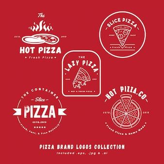 Kolekcja logo marki pizza