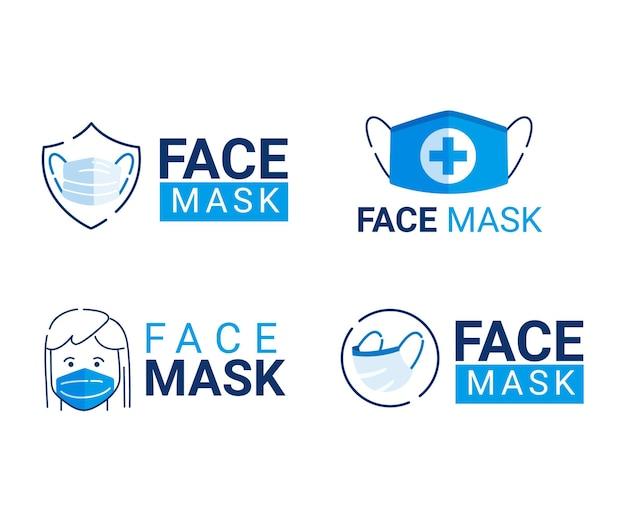 Kolekcja logo maski na twarz