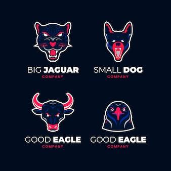 Kolekcja logo maskotki