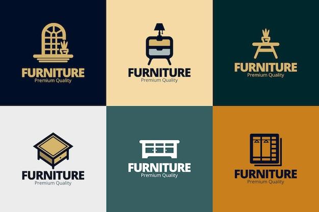 Kolekcja logo mebli