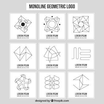 Kolekcja logo monoline dziewięciu