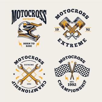 Kolekcja logo motocross
