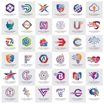 Kolekcja logo najlepszej technologii
