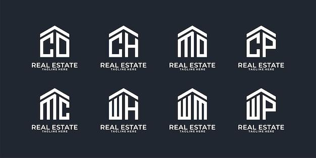 Kolekcja logo nieruchomości list