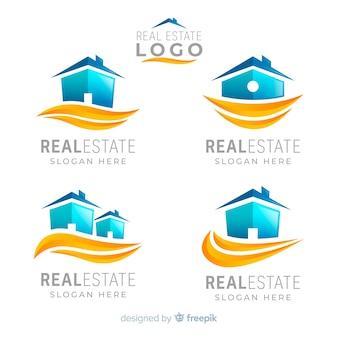 Kolekcja logo nieruchomości
