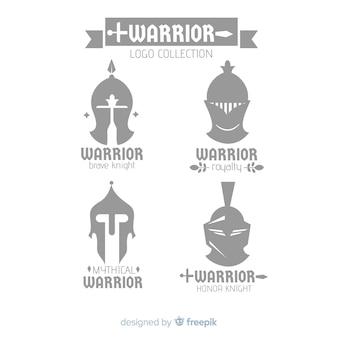 Kolekcja logo nowoczesnego wojownika