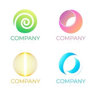 Kolekcja logo o gradiencie