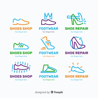 Kolekcja logo obuwia mody