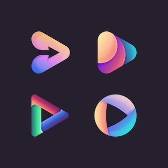 Kolekcja logo odtwarzania mediów