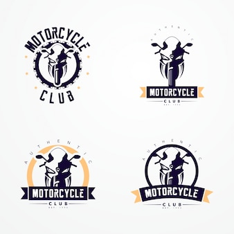 Kolekcja logo odznaki motocyklowej