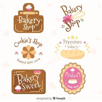 Kolekcja logo piekarni
