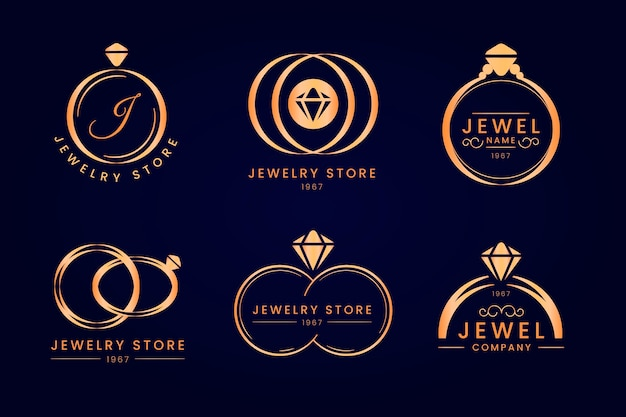 Kolekcja logo pierścienia gradientu