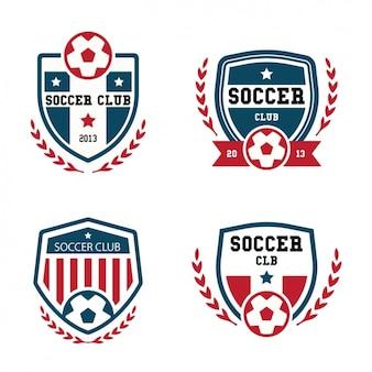 Kolekcja logo piłkarskie