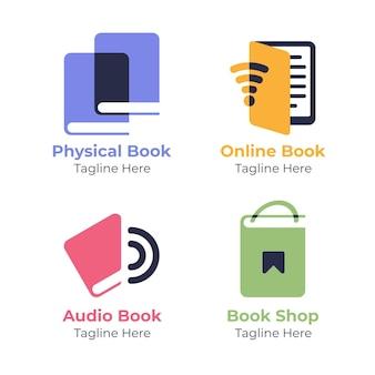 Kolekcja logo płaskiej książki