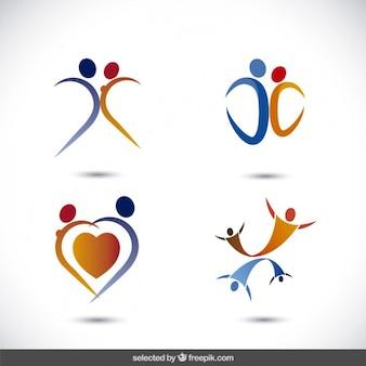 Kolekcja logo płci