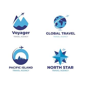 Kolekcja logo podróży