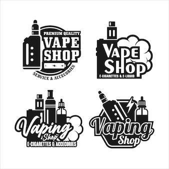 Kolekcja logo premium vaping shop