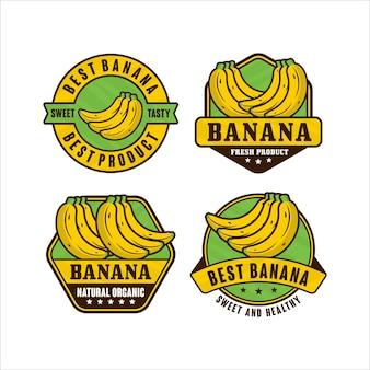 Kolekcja logo premium w kształcie banana