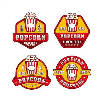Kolekcja logo premium z popcornem