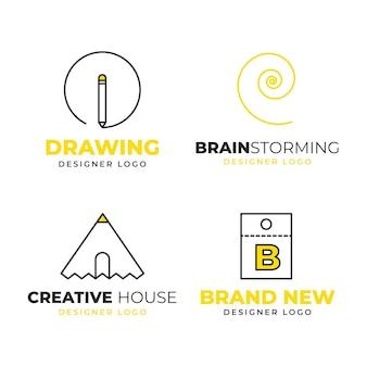Kolekcja logo projektanta graficznego