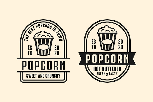 Kolekcja logo projektu popcornu