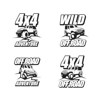 Kolekcja logo przygody off road