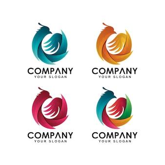 Kolekcja logo ptak phoenix