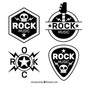Kolekcja logo rock z płaskim wzorem