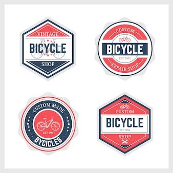 Kolekcja Logo Rocznika Roweru Premium Wektorów