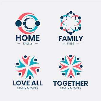 Kolekcja logo rodziny