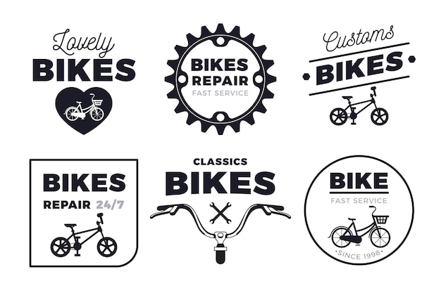 Kolekcja logo roweru