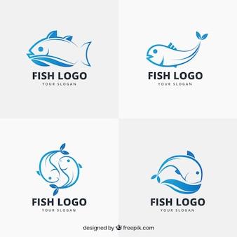 Kolekcja logo ryb dla marki firmowej