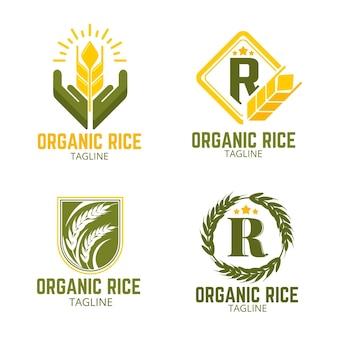 Kolekcja logo ryżu
