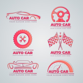 Kolekcja logo samochodu płaska konstrukcja